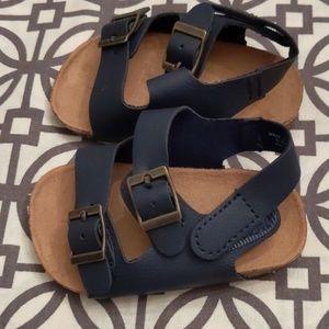 Navy Blue Baby Sandals 3-6 months